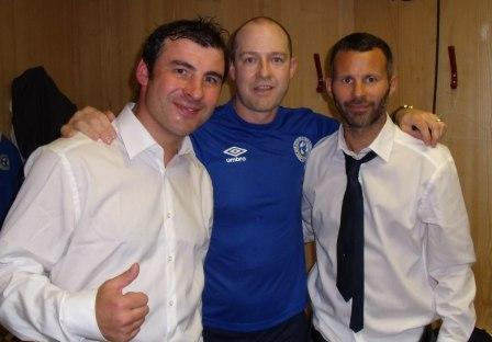 Joe Calzaghe and Ryan Giggs