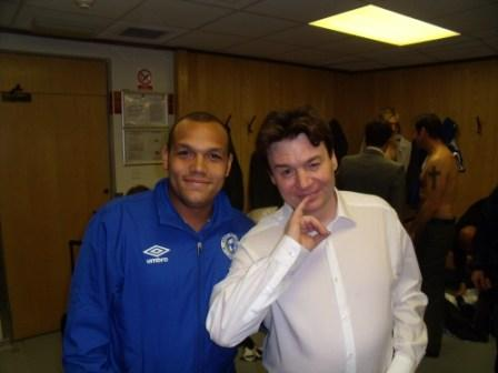 Danny - Fulham kit man with Dr Evil!
