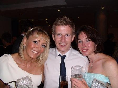 Sarah and Suzie with Patrick Kielty