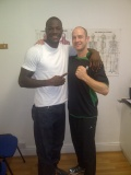 Sheffield Boxing Physio and Deontay Wilder